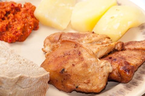 Contramuslo de pollo fileteado al horno