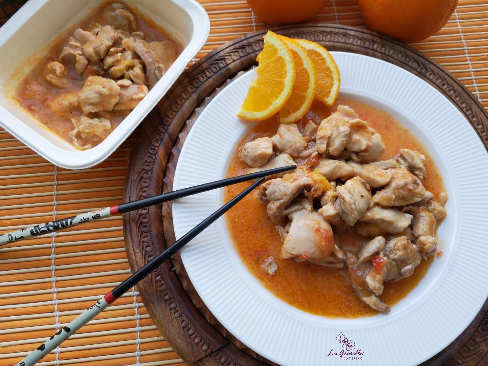 Ragú de pollo a la naranja