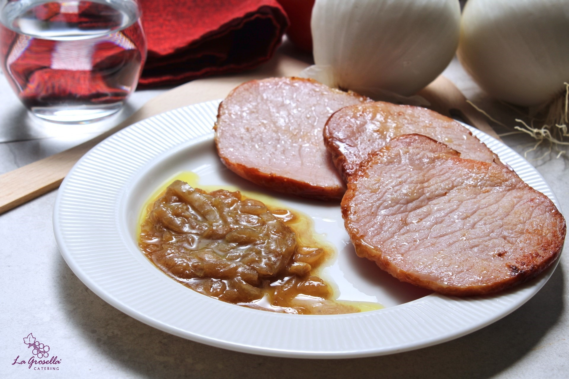 Lomo de Sajonia con cebolla caramelizada al Pedro Ximenez