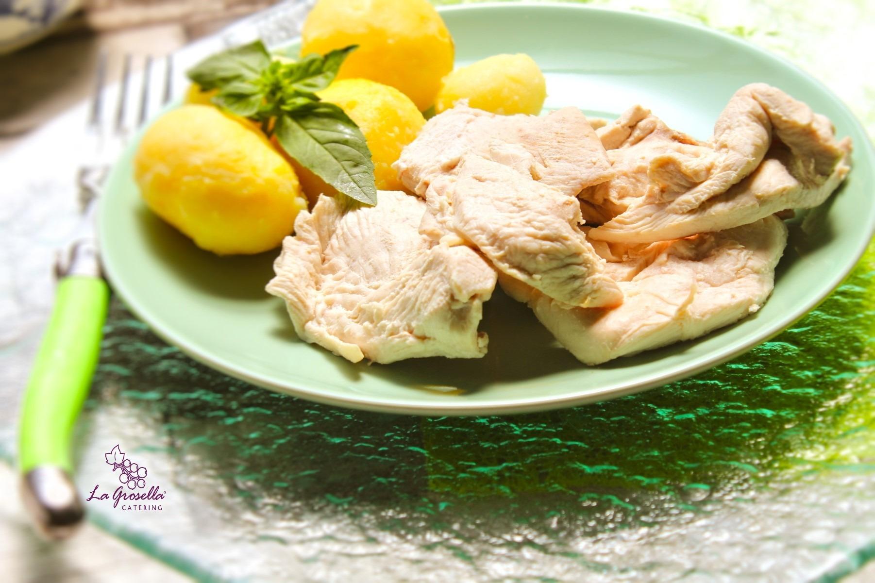 Pechuga de pollo cocido