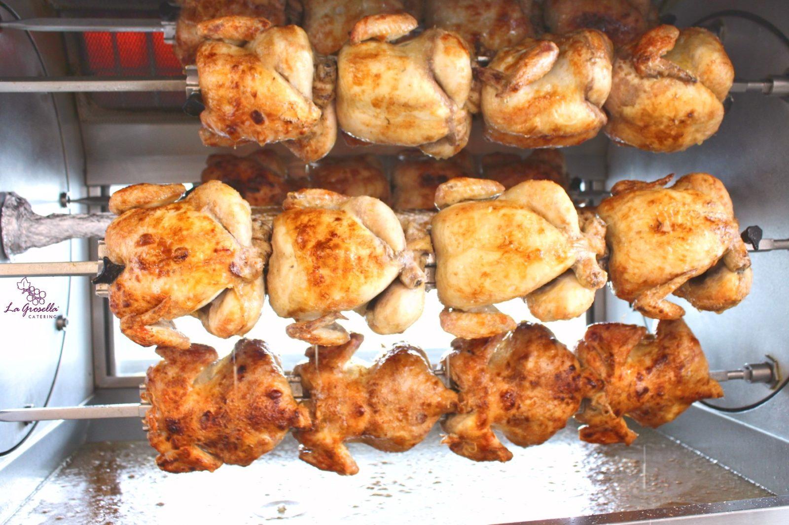 4 cuartos de pollo asado
