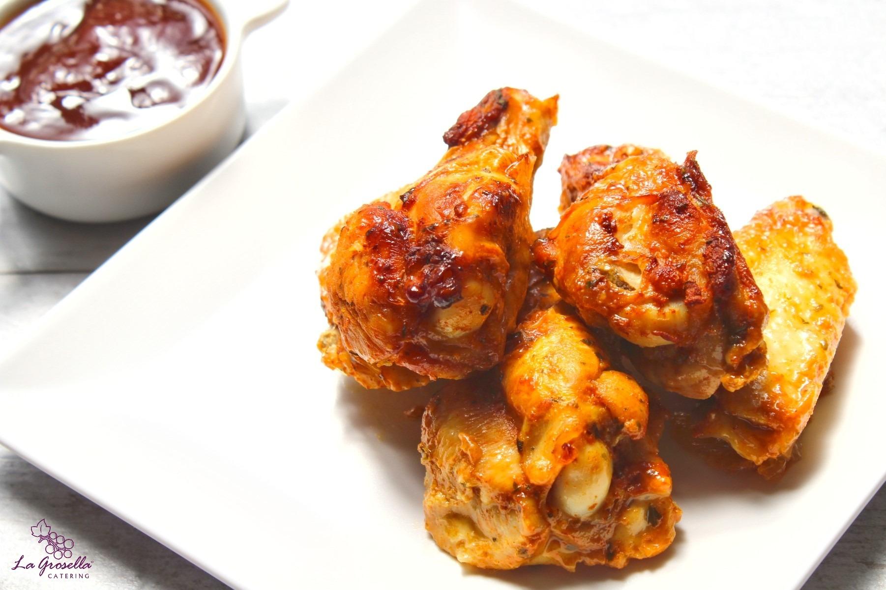 Alitas de pollo asadas con especias