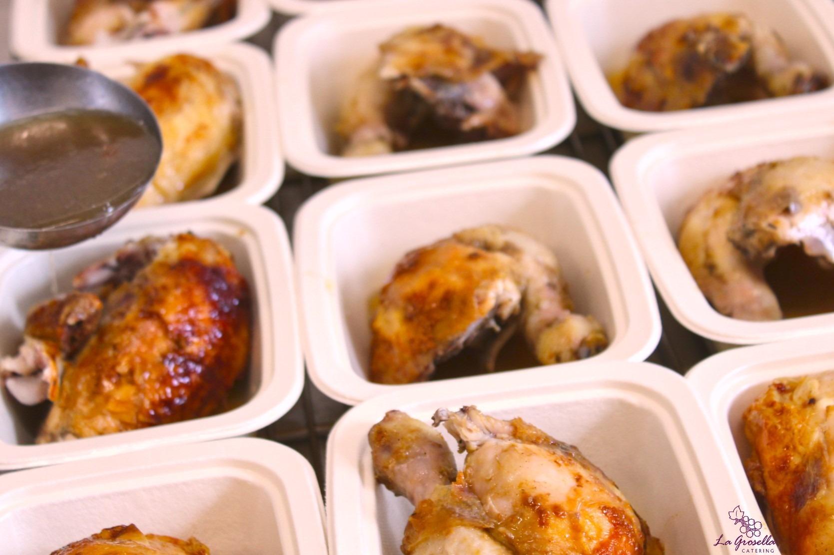 4 cuartos de pollo asado - Menu para casa por La Grosella®