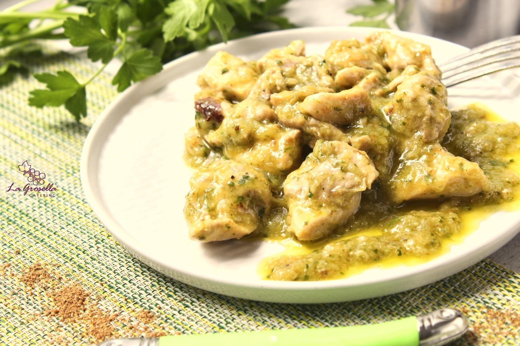 Ragú de pollo al cilantro