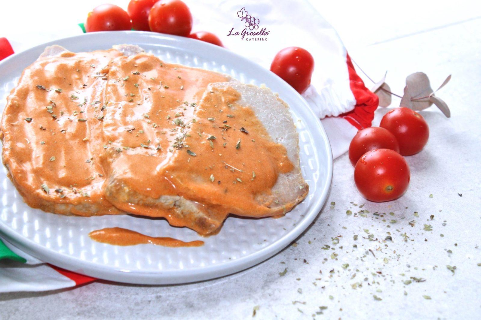 Lomo con salsa italiana