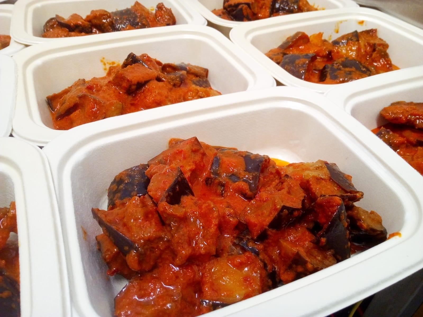 Berenjena con salsa canaria