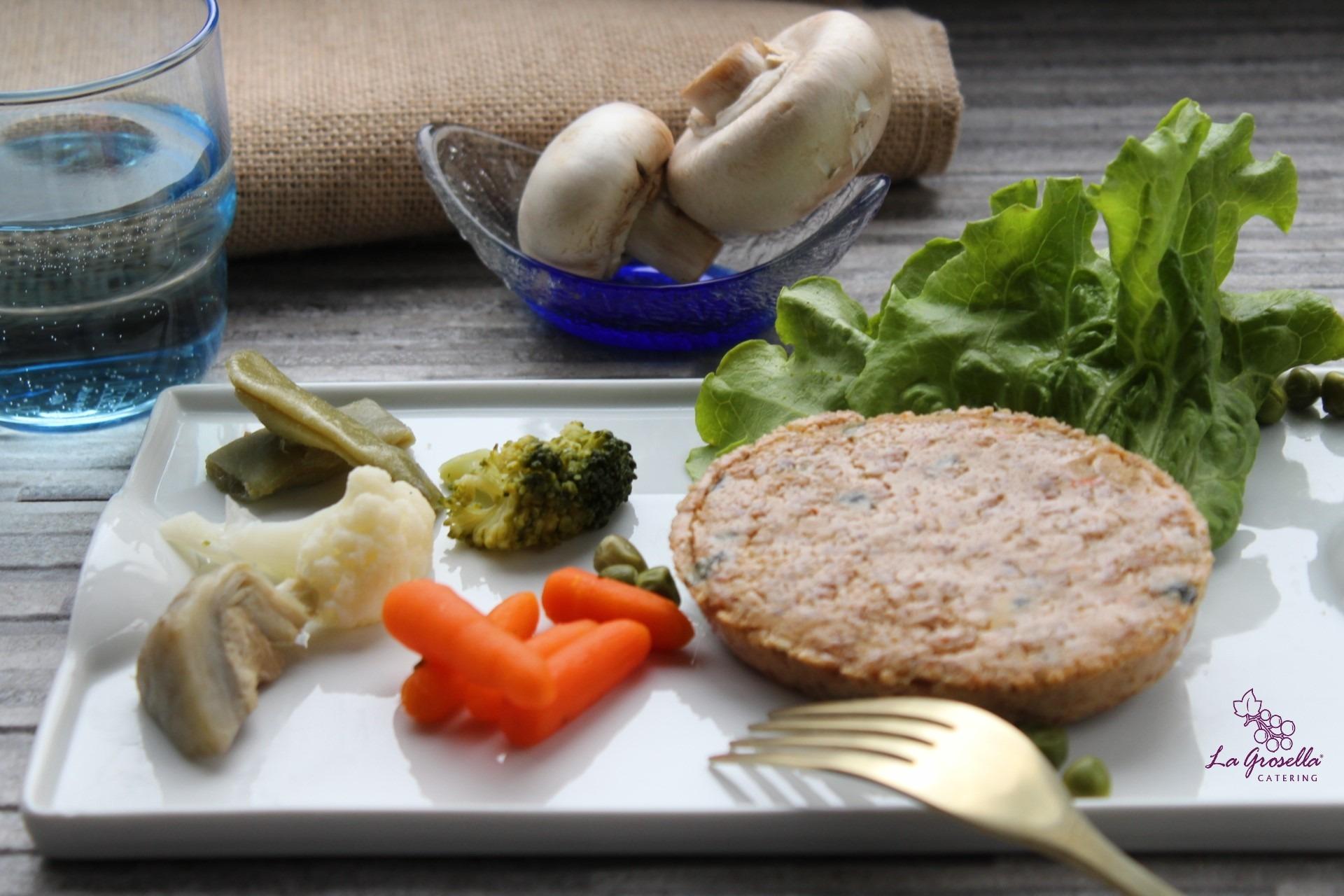 Hamburguesa vegetal de calabacín