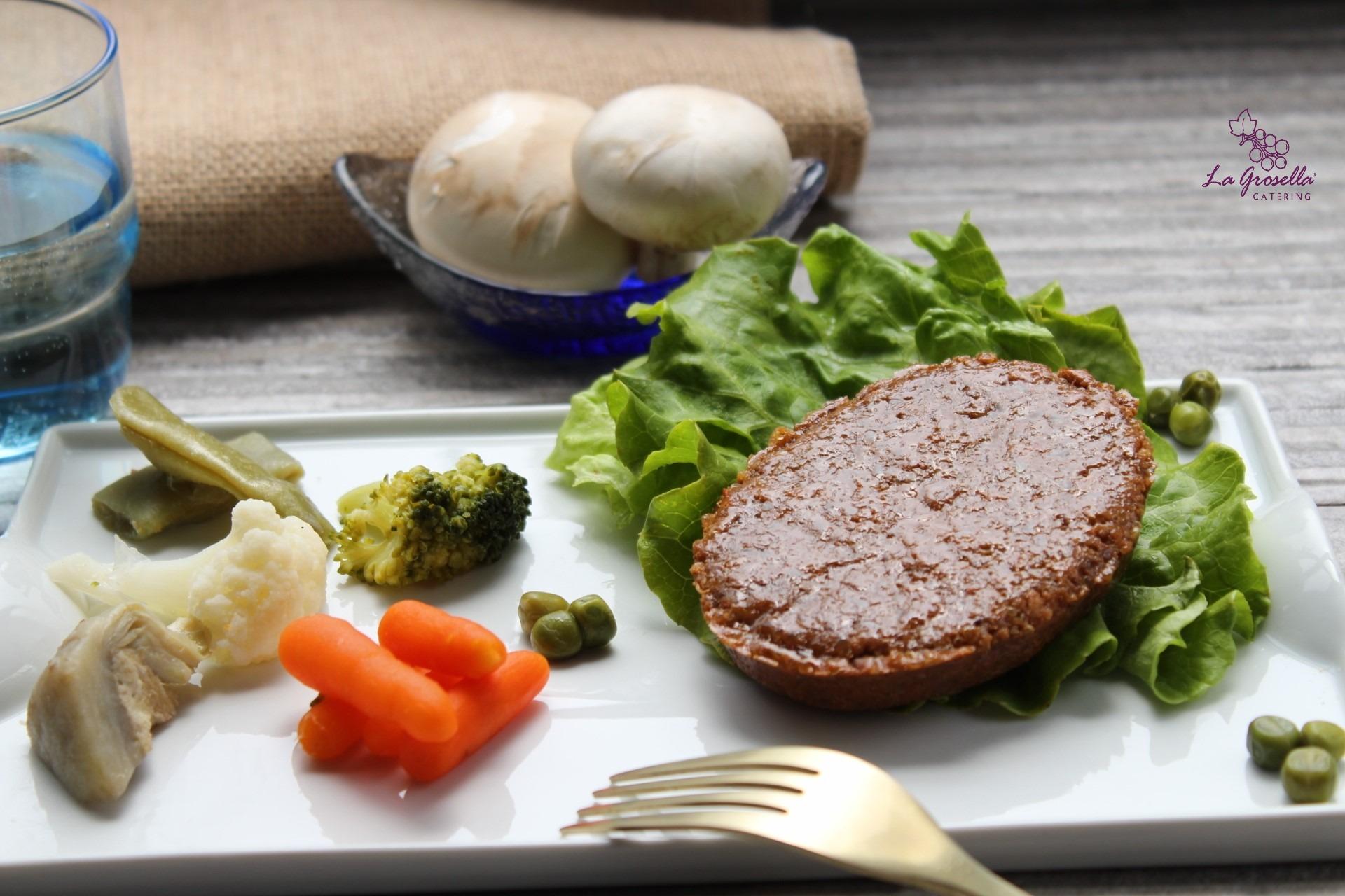 Hamburguesa vegetal de quinoa