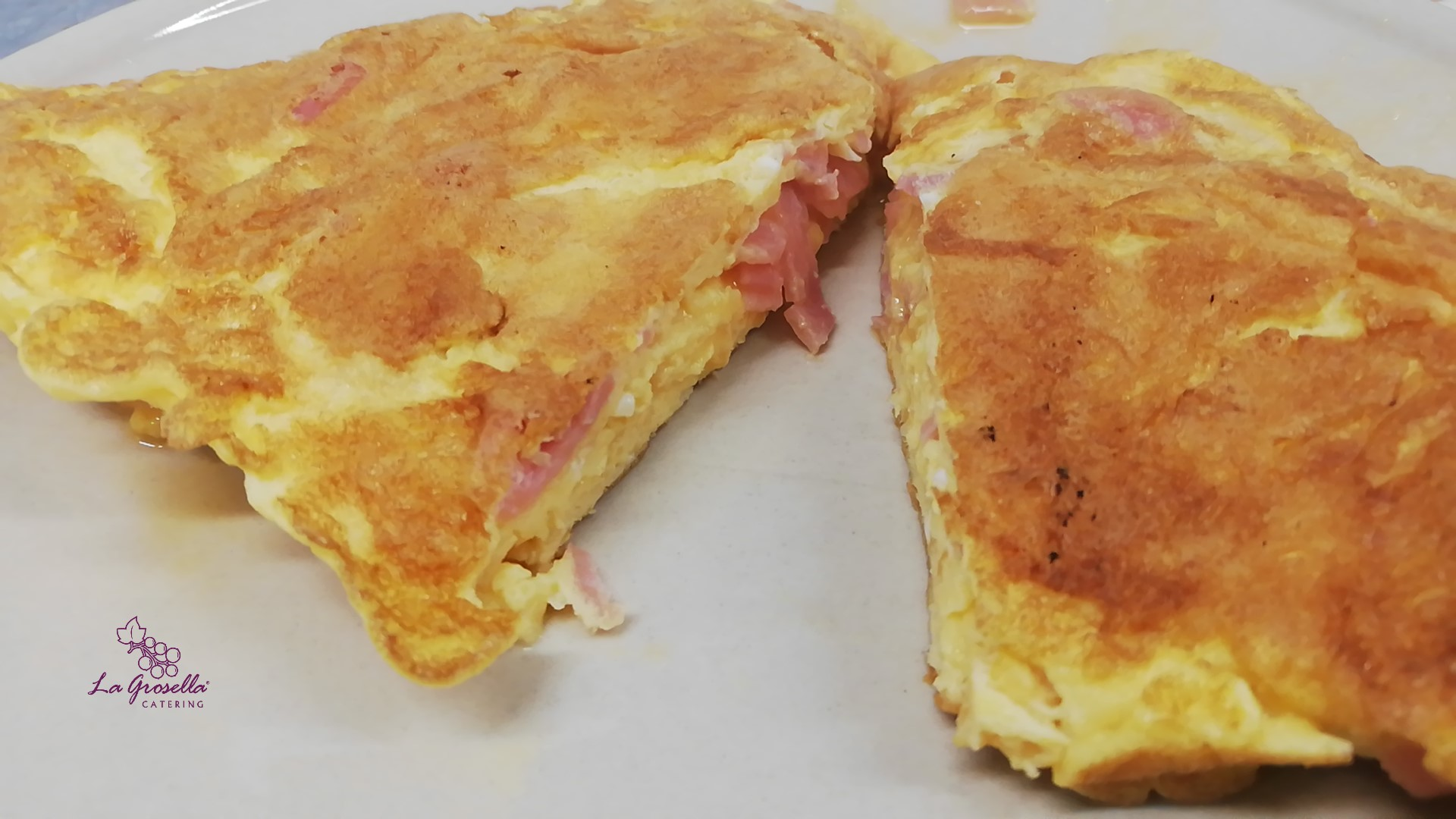 Tortilla Francesa con jamón york