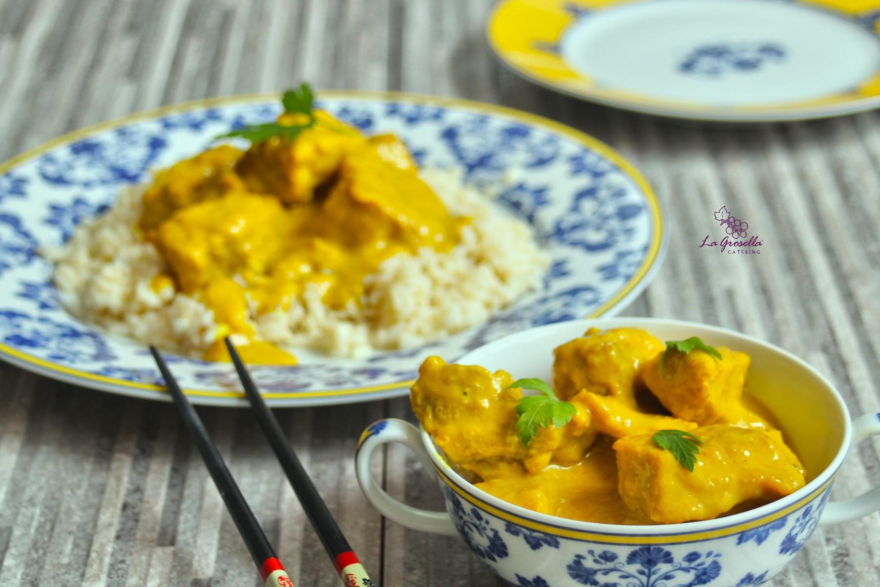 Tacos de lomo al curry amarillo