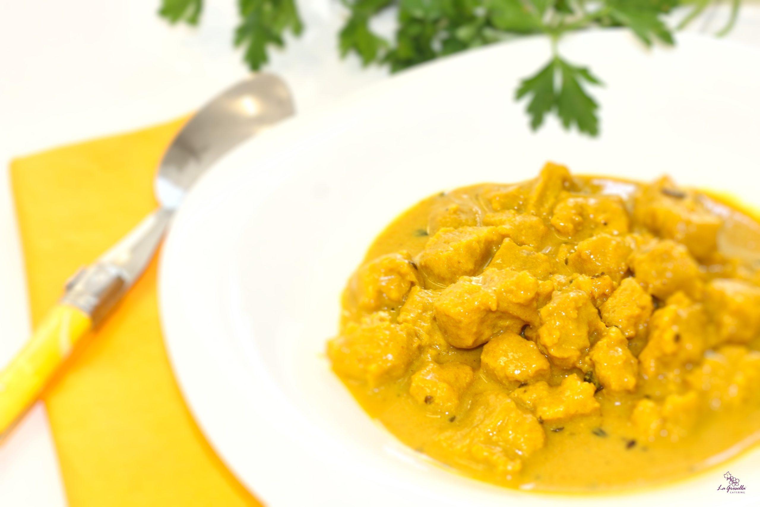 Soja texturizada al curry amarillo