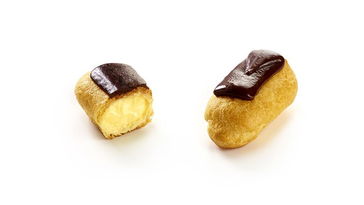 Mini eclair de vainilla con chocolate 12/U